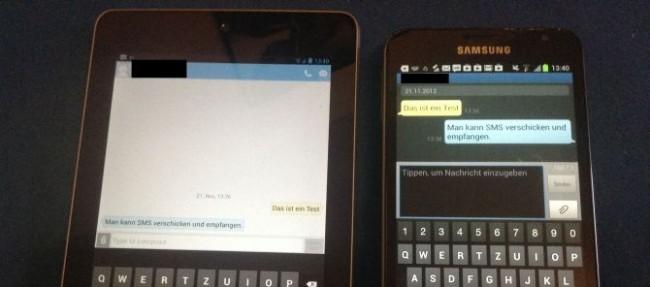 Nexus 7 3G SMS